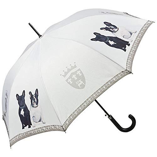 VON LILIENFELD Parapluie Automatique Femme Homme Motif Chien Bouledogues français