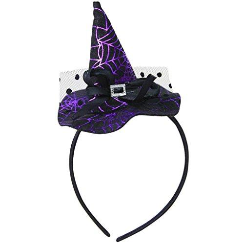 Hexenkappe Stirnband Transer® Erwachsene/Kinder Hexe-Hut Halloween Ornament Requisiten Zubehör für Halloween Party Karneval Größe: 22x11cm (Hüte Hexe)