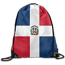 Daisylove Bandera de la República Dominicana Cool Gym Bolsas de cordón Mochila de Viaje Mochila Escolar