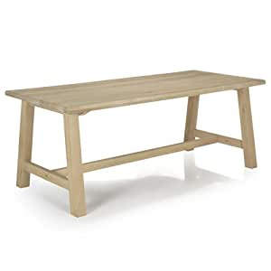 Carmen chêne Table de repas en chêne 200cm Naturel - Alinea 200.0x75.0