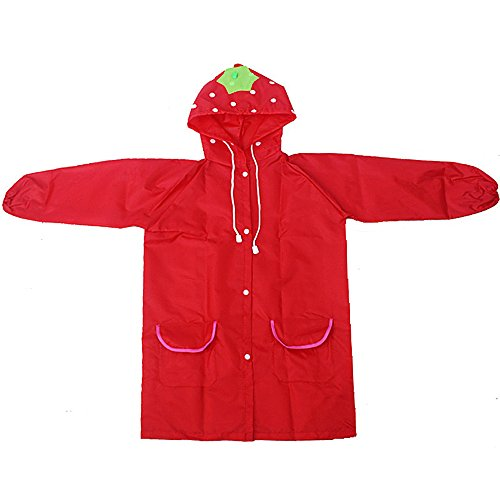 UMILLER Kids Rain Jacket Girls Boys, Waterproof Kids Raincoat Rainwear