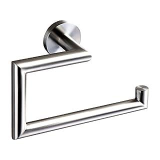 Ambrosya® | Exclusive towel rail made of stainless steel | Bathroom Bathroom Holder Bracket Towel Towel Hook Towel Rack Towel Bar Towel Rack (Stainless Steel (Brushed))