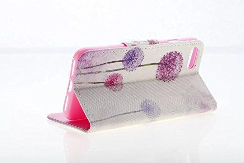 iPhone 7Coque, PT® iPhone 7Housse en cuir, iPhone 7Coque avec écran de 11,9cm, étui portefeuille pour iPhone 7, belle fleur à motif cuir PU Fonction de Support couvertures de coques de protection  Flower7