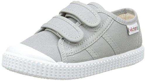 Victoriabasket lona dos velcros - sneakers unisex per bambini, grigio (12 grigio), 29