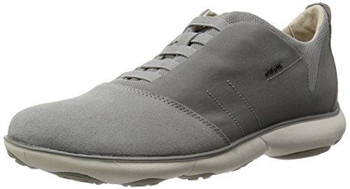 Geox u nebula b scarpe low-top, uomo, grigio (stone), 45