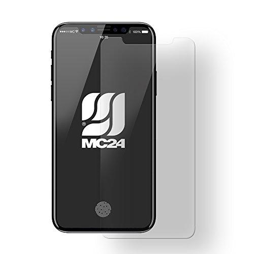 "MC24 Apple iPhone X XS (5,8"") Bulletproof Panzerglas Displayschutz - Hartglas Folie Curtain-Minder angel aus Tempered Glass 9H"