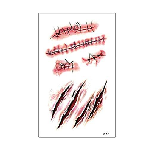 Cloverclover Pegatina Halloween Zombie Scars Tattoo