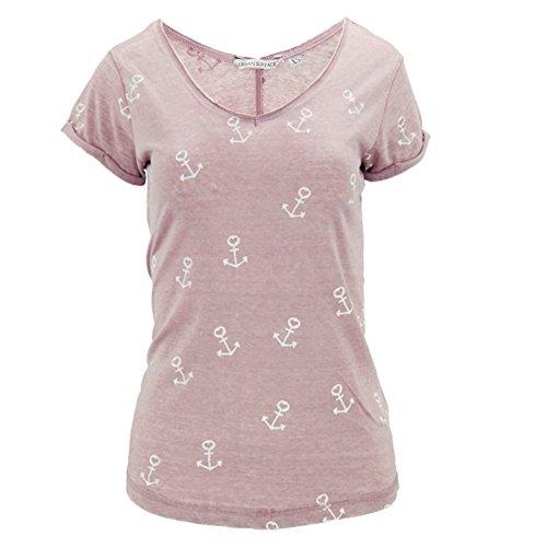 Urban Surface Damen T-Shirt Shirt Top Anker Sailing Gr 42 XL rosa