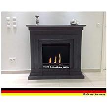 Kaminbau Mierzwa100281 Modell Berlin Deluxe Granit Dunkel, Gel Und Ethanol  Kamin Inklusive Einem Massiven 3