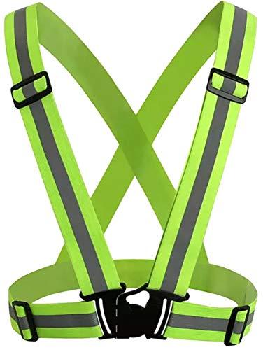 HOGAR AMO Riflettente Vest/Banda Fluorescenza Regolabile Ingranaggio di Sicurezza ad Alta visibilità Misura per Il Traffico Sportivo in Esecuzione Jogging Ciclismo a Piedi Giorno e Notte di Lavor