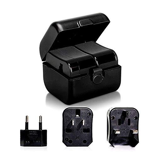 Weltweiter Reiseadapter,NBWS International-Stecker mit Zwei USB-Ladeanschlüssen [Dual USB Power Rating: 10A / 100-250V] und Universal-Wechselstromsteckdose, sicherheitsgesichert 10a Power Supply Box