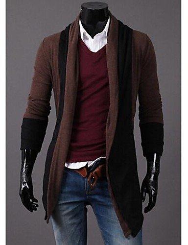 XX&GX tempo libero sottile cardigan manica lunga da uomo dark gray