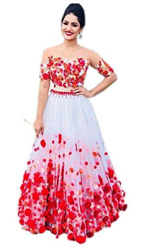 Sai creation Women\'s Silk Red Lehenga cholis (Sx509_Red_Free Size)