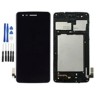 ixuan for LG K8 (2017) Aristo X240 M210 MS210 US215 M200N LCD Display Touch Screen Digitizer Complete Assembly with Bezel Frame Replacement Repair Part (Black)