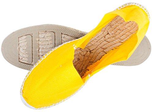 Sommerlatschen Espadrilles, Handmade, Gelb, Unisex, SL1252 Gelb (Gelb)