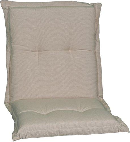 Beo NL Sitzkissen Gartenstuhlauflage Niedriglehner Premium Serie Nizza P203, beige, 100 cm x Breite 52 cm x Dicke ca. 8 cm