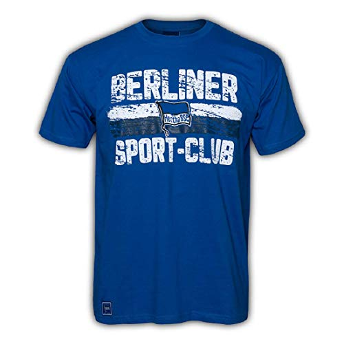 Hertha BSC Berlin Basic T-Shirt (L, blau)