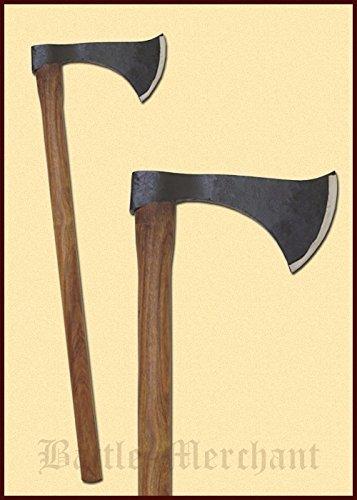 Hacha Franziska - decorativa, medieval hacha de acero forjado