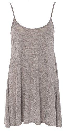 Re Tech UK -  Vestito  - skater - Senza maniche  - Donna Grey Light Knit