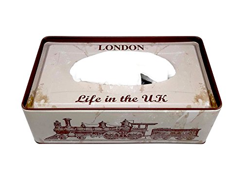 1 Compartments TIN Tissue Box Holder (LIFE IN THE UK)