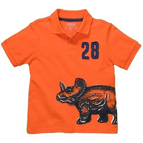 OSHKOSH B'gosh Poloshirt T-Shirt Junge boy 86/92 US SZE 2 t orange Dinosaurier (Oshkosh T-shirt Kinder)
