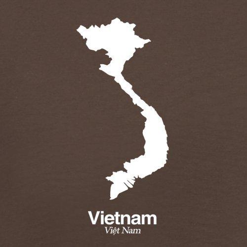 Vietnam / Sozialistische Republik Vietnam Silhouette - Herren T-Shirt - 13 Farben Schokobraun