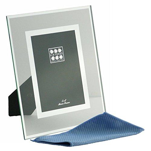Abgeschrägtes Glas & Spiegel Line Rundum Foto Rahmen für einen 15,2x 10,2cm-25,4x 20,3cm Bilder-Lenton von sixtreescomplete mit einem Mikrofaser-Reinigungstuch., farblos, 6