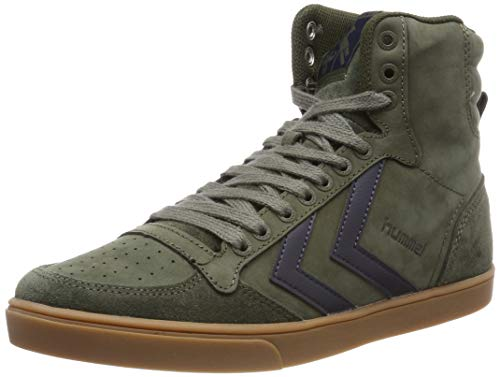 hummel Unisex-Erwachsene Stadil Rubber Hohe Sneaker, Grün (Olive Night 6453), 43 EU -