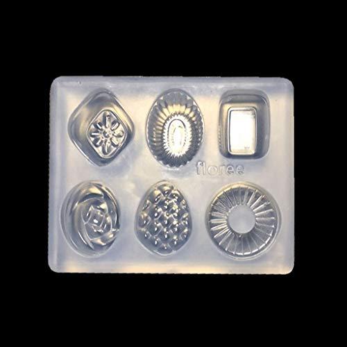 Eliky Mini Candy Anhänger DIY Schlüsselbund Ohrringe Form Harz Gehäuse Schmuckherstellung Werkzeuge (Moldes Mini-cupcakes)