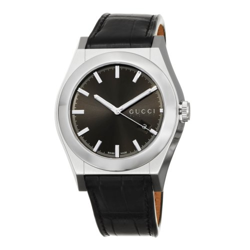Gucci Men's Automatic Watch YA115203 with Leather Strap