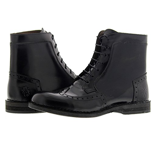 Womens Pollux Leather 922 Boots Fly Schwarz London Ilke 7wxUCOq