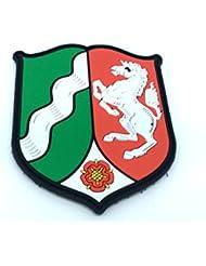 Nordrhein-Westfalen Escudo de armas alemán Crest Airsoft Velcro PVC Parche