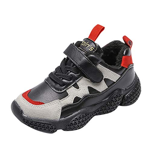 catmoew Kinder Sneaker Kinder Schneeschuhe Kinder Jungen Schuhe Kinder Winterstiefel rutschfeste warme Turnschuhe Sports Laufschuhe Kinder günstig Schuhe kaufen