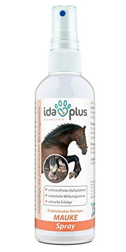 Ida Plus Mauke Spray für Pferde - Mittel zur einfachen & schmerzfreien Haut- & Hufpflege, Reinigung von Fesselekzem beim Pferd | Schnelle Erfolge, hautfreundlich & regenerierend (200 ml) (Erste-hilfe-brennen Creme)