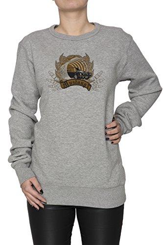 Mustang Donna Grigio Felpa Felpe Maglione Pullover Grey Women's Sweatshirt Pullover Jumper