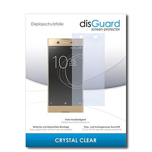 disGuard® Bildschirmschutzfolie [Crystal Clear] kompatibel mit Sony Xperia XA1 Ultra Dual [2 Stück] Kristallklar, Transparent, Unsichtbar, Extrem Kratzfest, Anti-Fingerabdruck - Schutzfolie