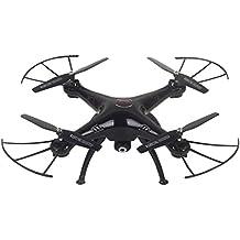 BEETEST 4 Canales 2.4GHz 6-eje RC girocompás abejón helicóptero Quadcopter juguete con 5.0MP cámara Negro