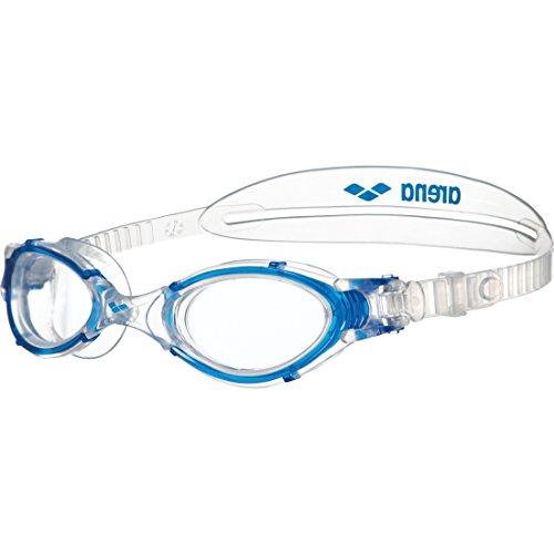 arena Unisex Training Freizeit Schwimmbrille Nimesis Crystal Medium (UV-Schutz, Anti-Fog Beschichtung), Clear-Blue (17), One Size