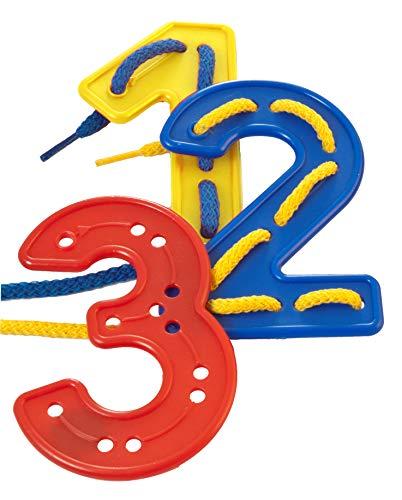 Miniland- Set de números para Coser (40 Piezas) Juego, Multicolor (95268)