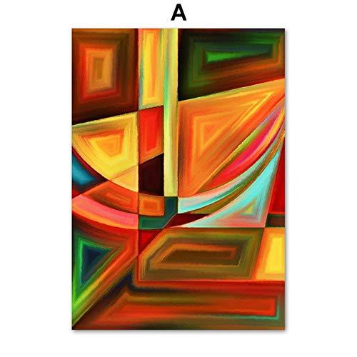 TYLPK Abstrakte geometrische kreisförmige Ölgemälde Kunst Leinwand Malerei A4 60X80 cm No Framed