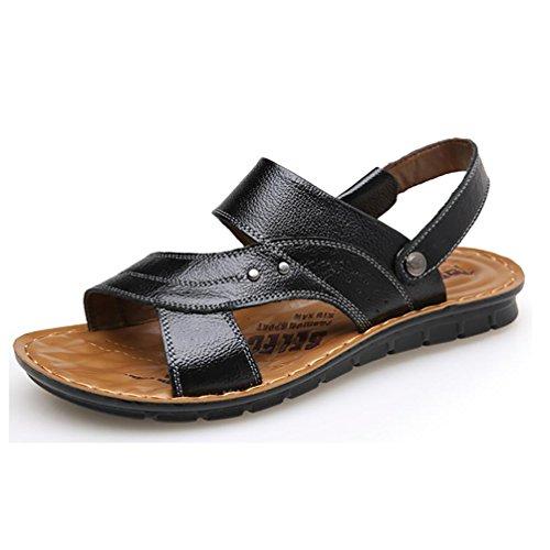 SHANGXIAN Scarpe nuovo stile vendita calda all'aperto Casual Comfort cuoio spiaggia sandali uomo marrone nero 44