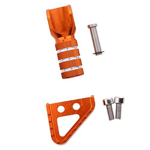 Sharplace 1x Hochleistungs CNC Bremspedale mit 1x Schalthebel Tip und Schrauben für KTM Motorräder