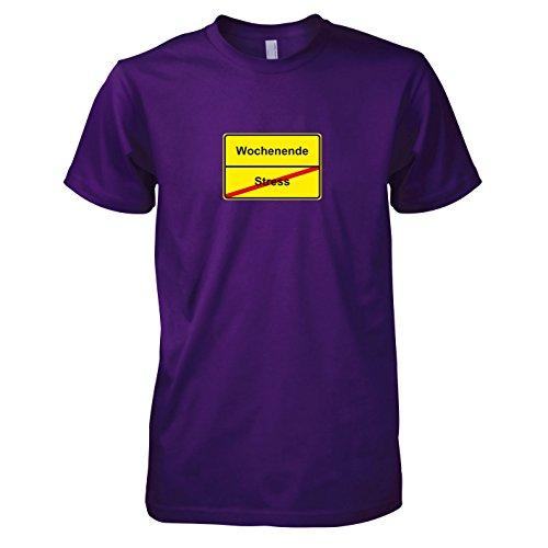 TEXLAB - Schluss mit Stress Schild - Herren T-Shirt Violett