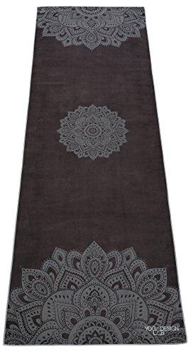 Yoga Design Lab Hot Yoga Handtuch | rutschfest, leicht, recyceltes, saugfähiges Mikrofaser Yogahandtuch | schnelltrocknend, waschmaschinenfest (Mandala Black)