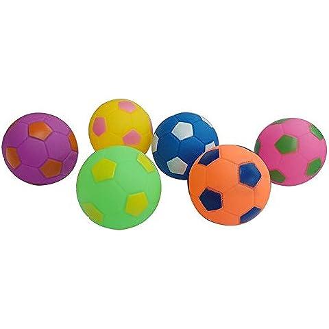 Fajiabao Giocattolo – Colorato Antistress Palla da calcio morbid, Palla Squillerà Antistress per bambini 3 (2 Spugna Palle)