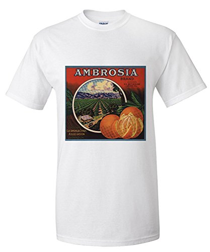 Ambrosia Brand - Upland, California - Citrus Crate Label (Premium T-Shirt)