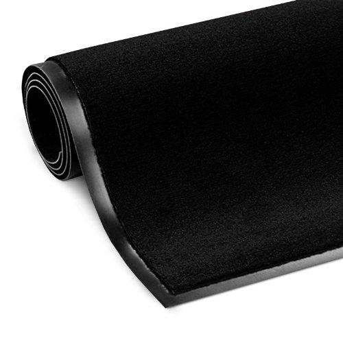 etm Schmutzfangmatte ColorLine | Türmatte in vielen Größen | Fußmatte für Innenbereich | Rutschfester Teppich für Flur, Haustür, Eingang, Eingangsbereich, Vorzimmer - Schwarz 90x150 cm