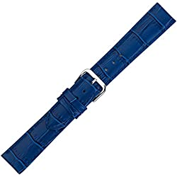 Eichmüller Alligator Grain Watch Strap in Royal Blue - 20 mm