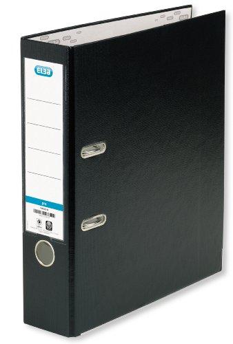 ELBA Ordner smart Pro 10er Pack 8 cm breit DIN A4 schwarz mit Einsteckrückenschild