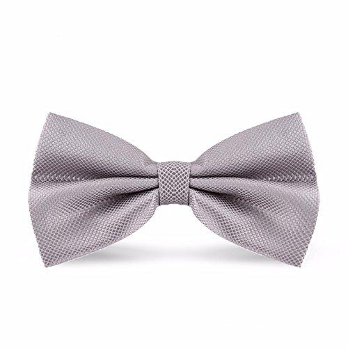 Fliege, Fliege für Männer, Mode, der Bräutigam bester Mann, Hochzeit Bow Tie, Plaid Bow Tie, Geschenkbox, Grau karierte (Kinder Übergroße Clown Schuhe)